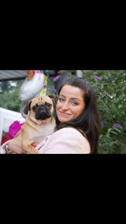 Nina Sauermann mit ihrem Hund